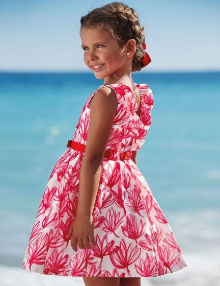 Silk Patterned  Dress
