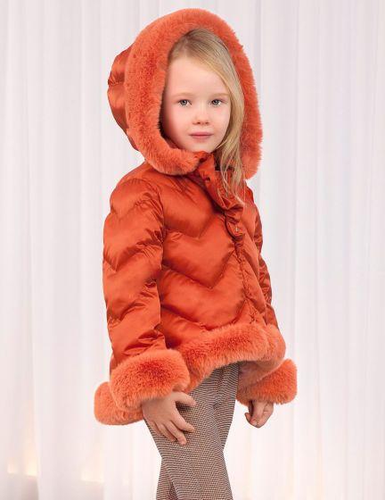 Jacket Combined Fur 052ORANGE5829