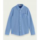 Long-Sleeved Pique Shirt