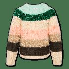 Sweater C-neck stripe multicolour 220-1312