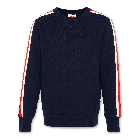 Sweater C-neck sweater tape navy 220-2231-20