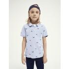 Short Sleeve Polo With Print