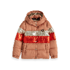 Colour-Block Puffer Jacket