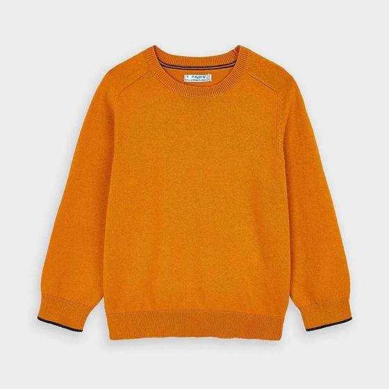 Sweater Basic Cotton W/Round 072YELLOW323