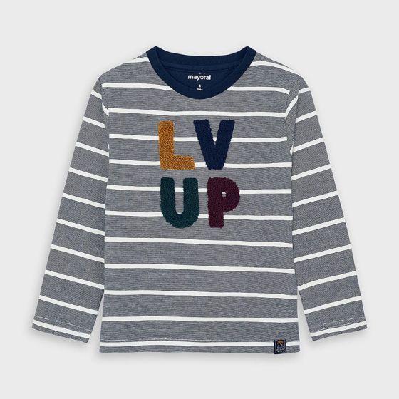 T-shirt L/S Stripes 071DEEPBLUE4053