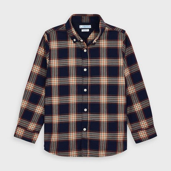 Shirt L/S Checked 032NAVY4147