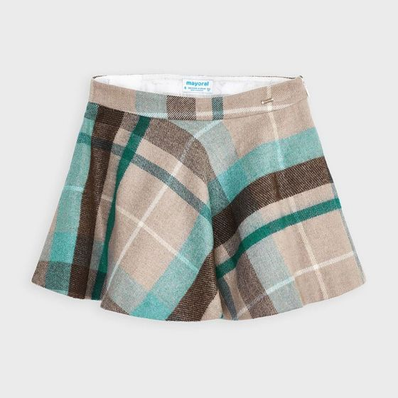 Skirt Plaid Lurex 086DUCKGREEN4952