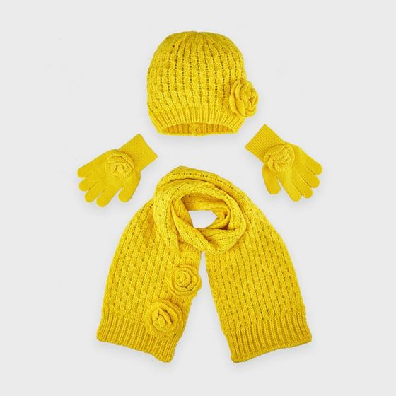 HAt And Scarf Set 087YELLOW10897