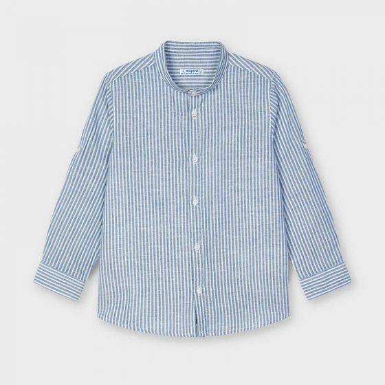 Linen Striped L/S Shirt