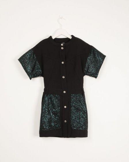 Dress With Sequins Details Malachite Initials