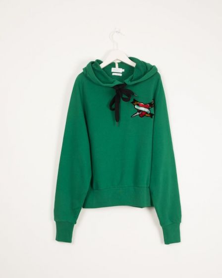 Hoody With Print Malachite Ireland Tatoo