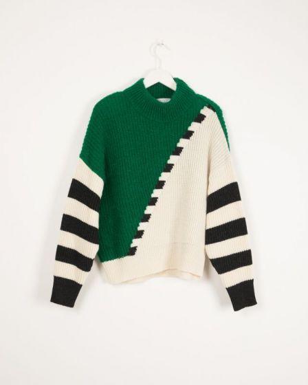Sweater Graphic Knit Malachite Ingmar