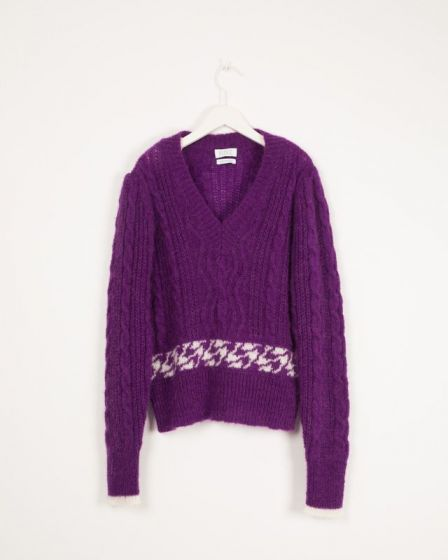 Sweater Mohair V Neck Knit Sweater Imperial Irene