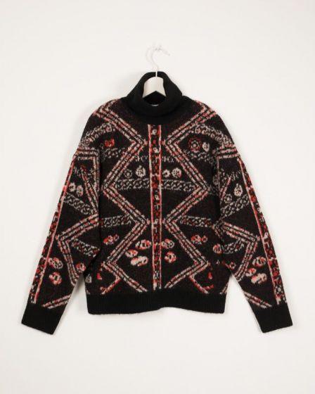 Sweater Woll Turlte Neck Black Izaura