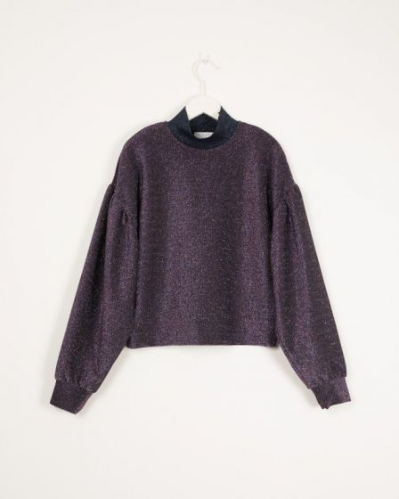 Sweater Glitter Long Sleeve Imperial Ivory