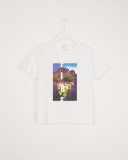 T-Shirt With Print White Isabella Arizona