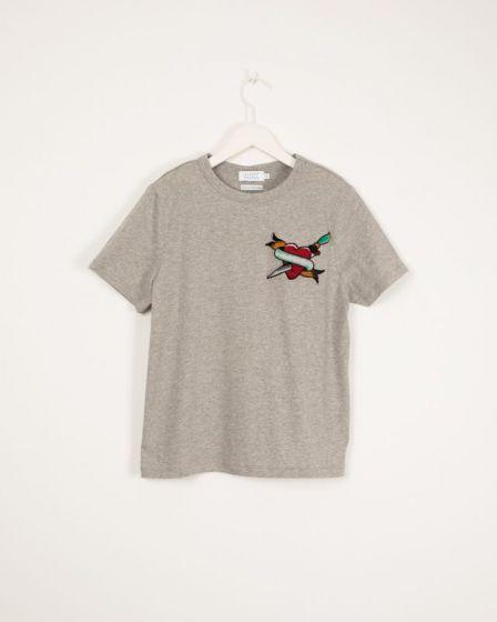 T-Shirt With Print Grey Isabella Tatoo