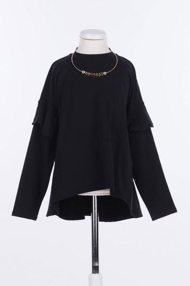 Wide Blouse With Chain nero202GJ2471