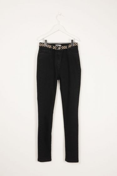 Jeans Slim Jeans With Belt Grey Iconic