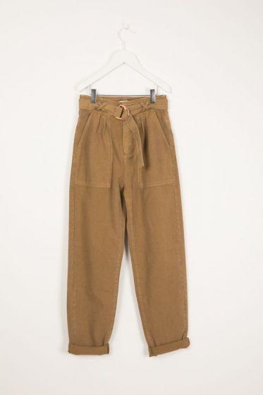 Trouser With Belt AntilopeImage