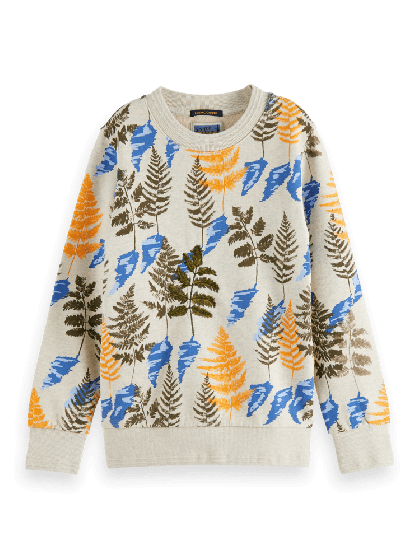 Sweater All-over Printed Crewneck 0217-157716