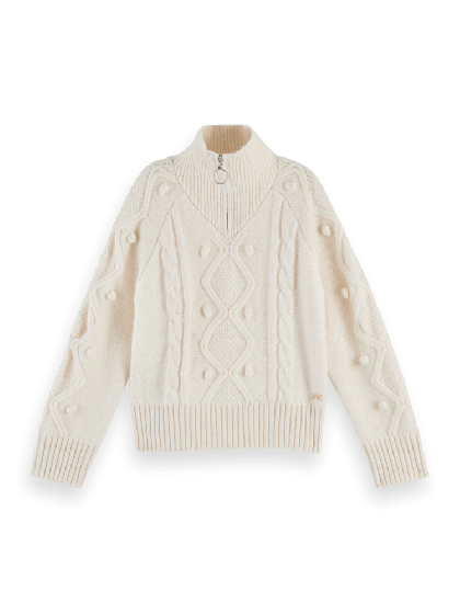 Half-Zip Cable Knit Pullover 0001-160511