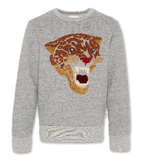 Sweater C-neck sweater Leopard Grey 220-2200-01