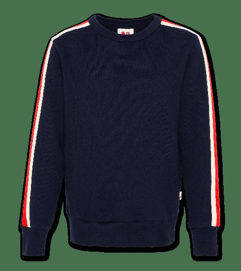 Sweater C-neck sweater tape navy 220-2231-20
